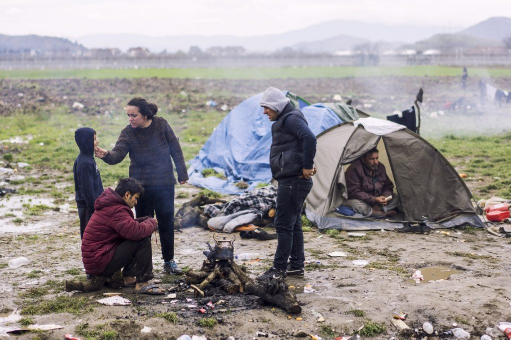 Reportaje de fotografía campo de refugiados de Eidomeni (2016)